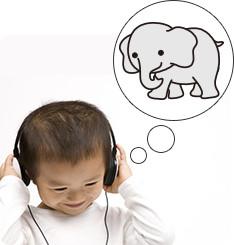 音声によってモノを意識し、イメージ